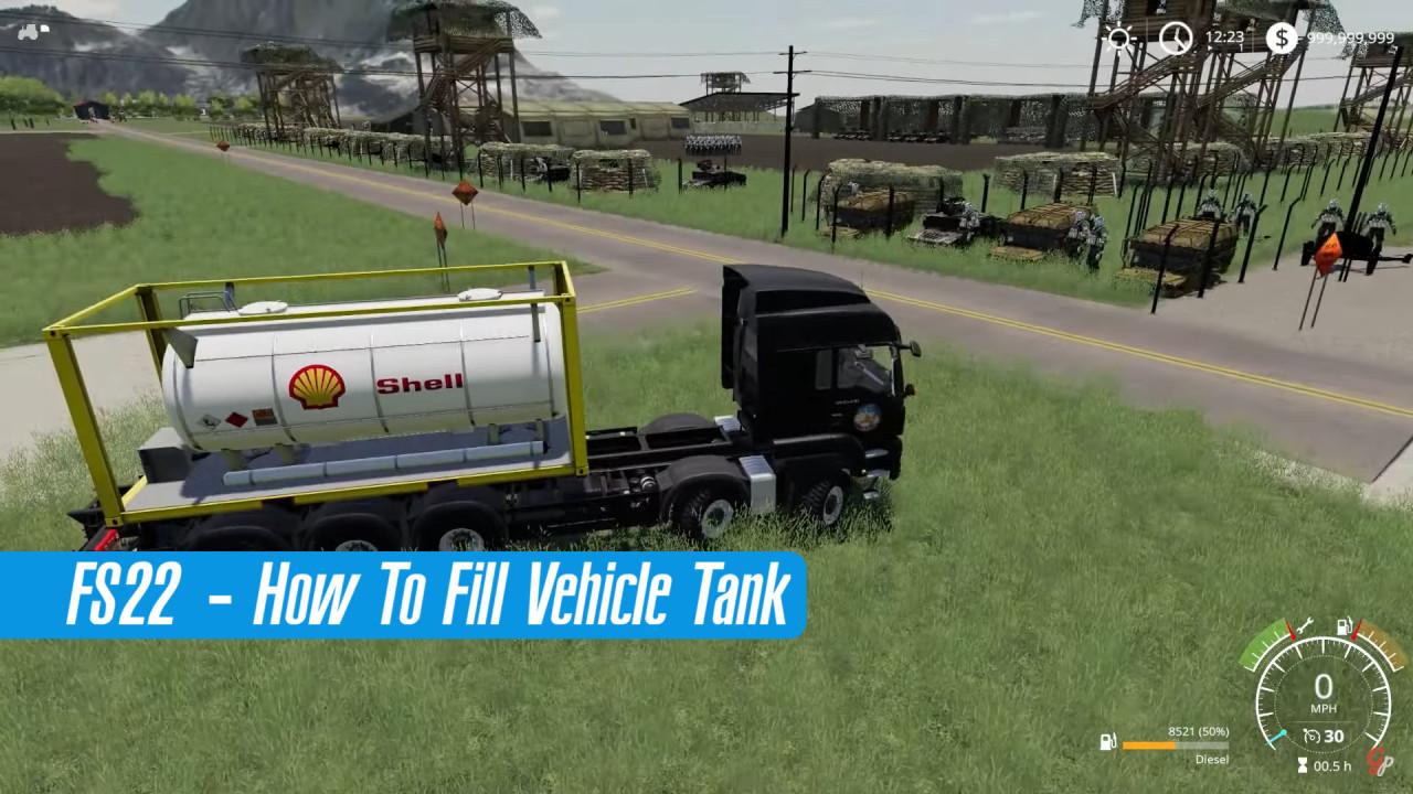 Farming Simulator 22 - How to Fill Vehicle Tanks?