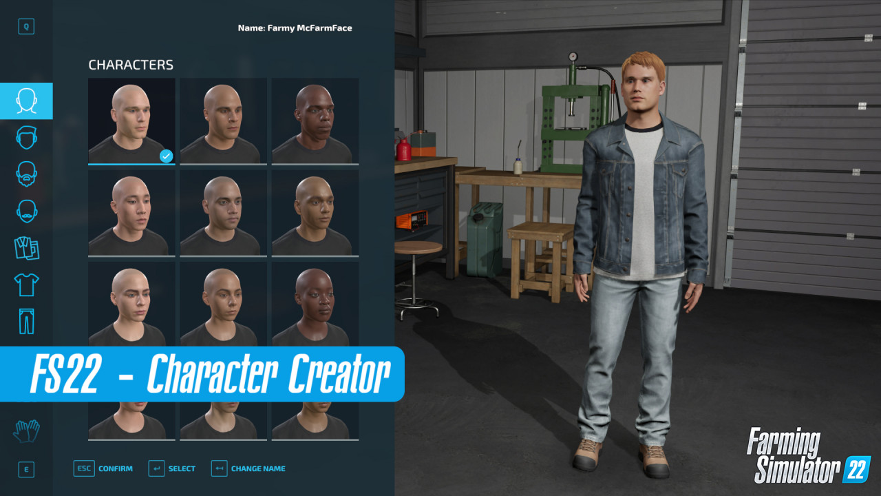 New Character Creator in FS22