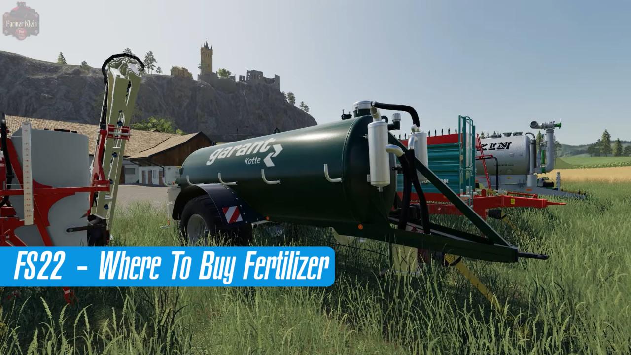 FS22 - Where To Buy Fertilizer?
