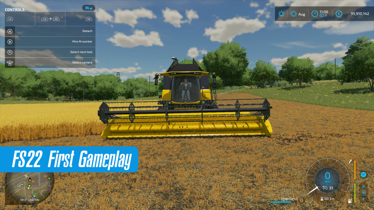 First FS22 Gameplay Released