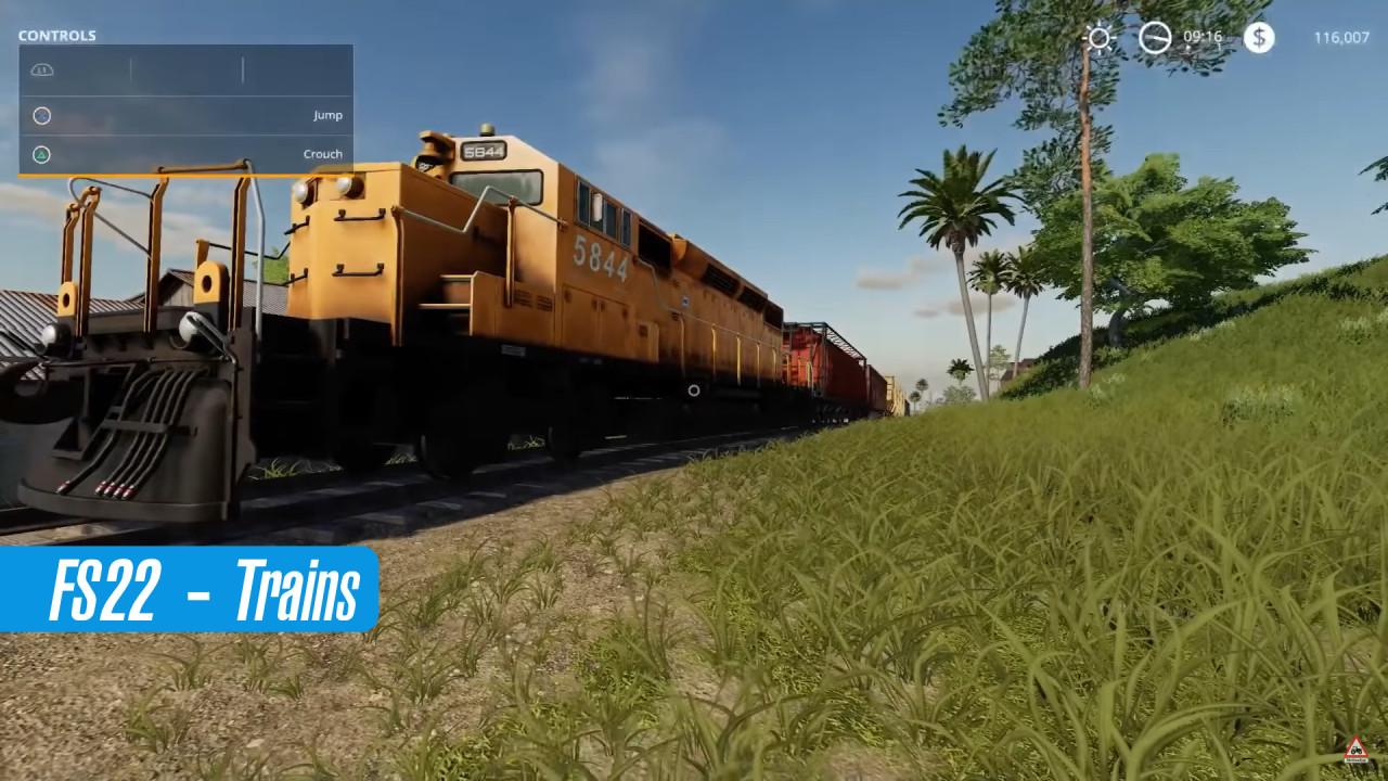 Farming Simulator 22 – Trains