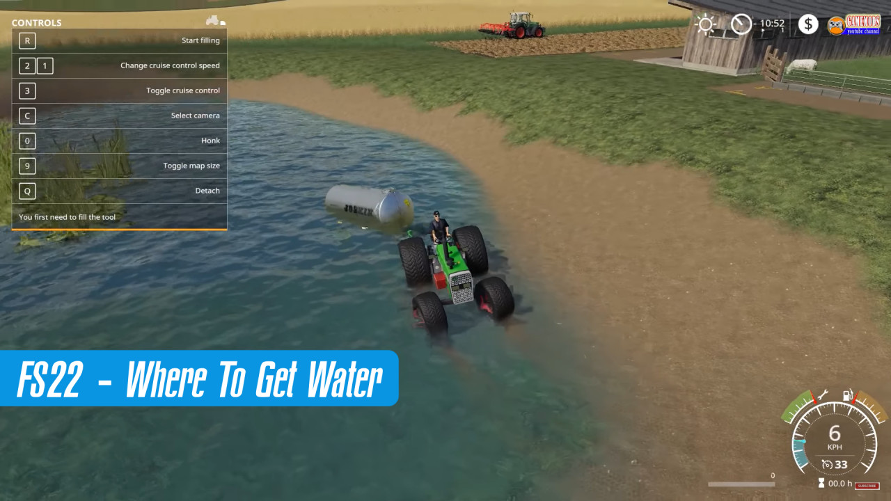 Farming Simulator 22 - Where To Get Water?